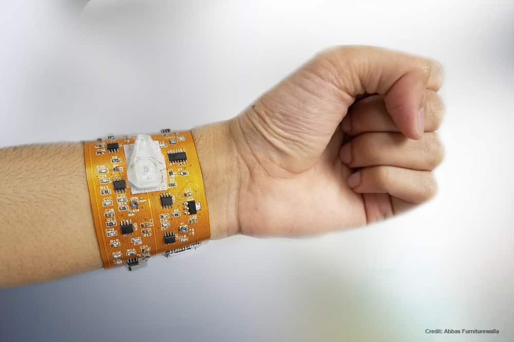 Smart Wristband Samples Blood and Perform Cell Counts